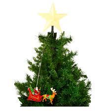 christmas animated tree toppers santa