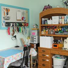 How To Organize Craft Room - office organization ideas the country chic cottage