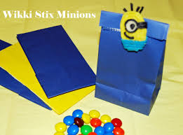 minion gift bags wikki stix gift wrapping crafts and ideas for kids wikki stix