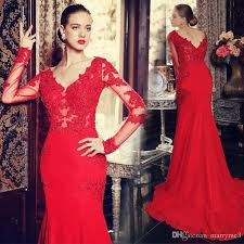 wine red prom dresses party dresses long sleeve evening dress with