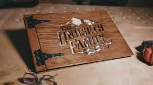 rustic wedding photo albums a photo album from wood
