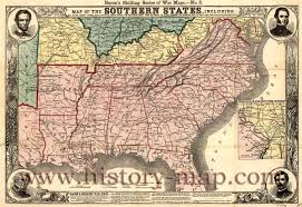 Map Of The Southern States by Of The Civil War