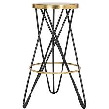 round hairpin legs bar stool
