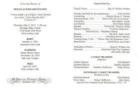 memorial service program funeral program template