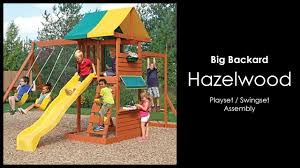 assembly of the hazelwood play set by big backyard installation