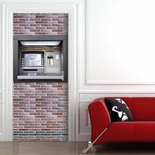 home decor free shipping free shipping diy 3d creative atm pattern door sticker home decor