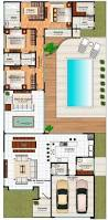 earth homes floor plans plano de casa de 240 m2 más exteriors and floorplans pinterest