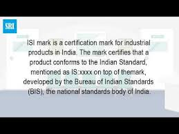 bureau standard what is isi