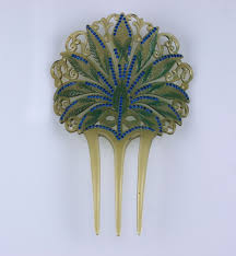 decorative hair combs nouveau celluloid and diamonte hair comb for sale at 1stdibs