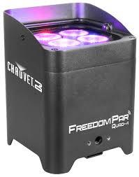 chauvet dj 16 freedom par quad 4 bundle with flarecon air free