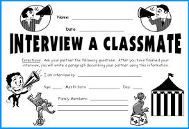 classmate interview megaphone templates fun back to lesson