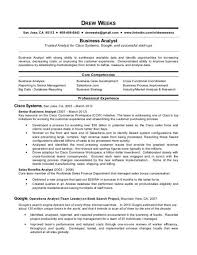 How To Write A Business Analyst Resume Business Analyst Resume Sample Starengineering