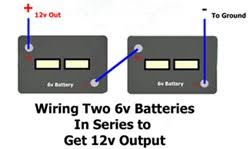 how to wire two 6 volt batteries in series to double output