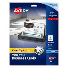 business card stock paper avery two side printable clean edge business cards