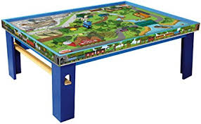 thomas the train wooden track table amazon com fisher price thomas friends wooden railway island of