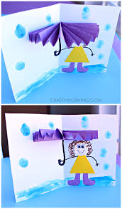 Pinterest Crafts For Kids To Make - 3d umbrella rainy day card for kids to make spring craft