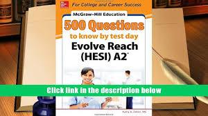free pdf mcgraw hill education 500 evolve reach hesi a2