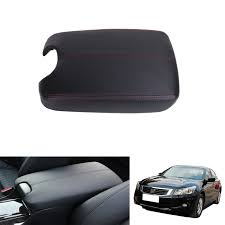 honda accord 2010 black cars black leather console storage box arm rest pad armrest lid cover