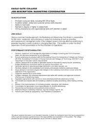 Training Coordinator Resume Cover Letter Digital Marketing Coordinator Example Job Description Free Pdf