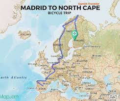 map of n europe travel without money by bicycle bicycling and travel europe