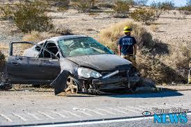 crashed jeep liberty street racing on i 15 freeway leads to chain reaction crash