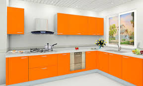 Orange And White Kitchen Ideas Colorful Kitchens Orange Paint Kitchen Walls Orange Kitchen