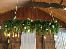 Table Flowers by Hanging Plank On Vintage Ladder Bridal Table Wedding Glen Ewin