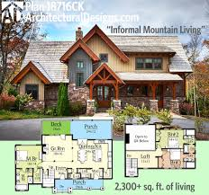 open floor house plans with walkout basement lakeside home plans lake house floor walkout basement cottage modern