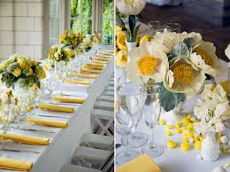stunning wedding table decoration with yellow centerpiece decor