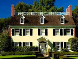 decoration handsome colonial style home architecture famous