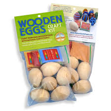 wooden easter eggs wooden easter egg craft kit vegan by earth paint