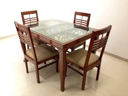 Latest Dining Table Designs With Glass Top Latest Model A - Black dining table with wood top