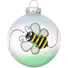 bumblebee trail glass ornament novelty nostalgia