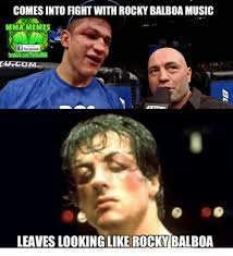 Rocky Meme - comes into fight with rocky balboa music mma memes if facebook