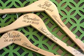 6 notched custom personalized wedding hanger with arm