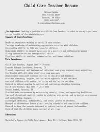 Resume For Babysitting Sample by Child Care Teacher Resume Http Getresumetemplate Info 3614