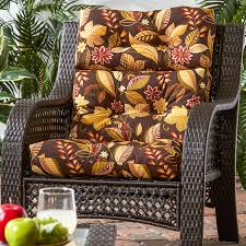 Outdoor High Back Chair Cushions Clearance Amazon Com Greendale Home Fashions Indoor Outdoor High Back Chair