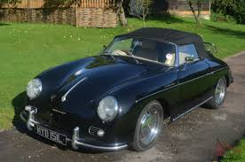 convertible porsche 356 porsche 356 speedster convertible black with cream leather