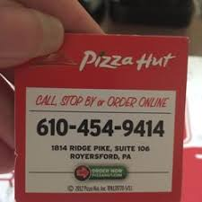 pizza hut help desk phone number pizza hut 13 photos pizza 1814 e ridge pike royersford pa