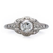 art deco engagement rings shop trumpet u0026 horn