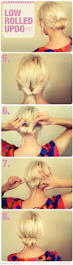 low rolled updo women u0027s hairstyles nails makeup pinterest