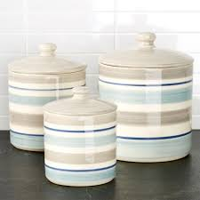 blue and white kitchen canisters blue white kitchen style crate and barrel