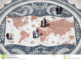 mosaic district map mosaic map in belem district of lisbon portugal editorial stock