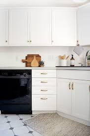 update flat kitchen cabinet doors how to add trim and paint your laminate cabinets brepurposed