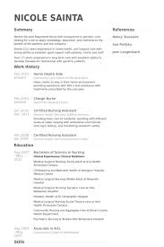 Resume Examples For Cna by Home Health Aide Resume Samples Visualcv Resume Samples Database
