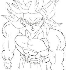 dragon ball z photos of goku colouring pages coloring page