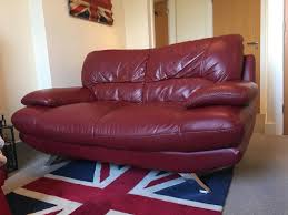 dark red leather sofa modern dark red leather sofa in stanway essex gumtree