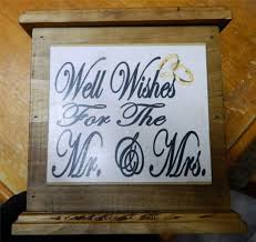 Country Wedding Sayings Wooden Wishing Well Wedding Card Box Engagement Assort Sayings
