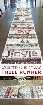 merry cheer quilted table runner pattern sewing