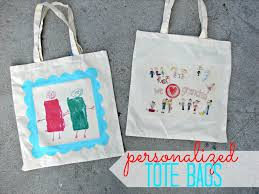 personalized tote bags and a kid craft monday a and